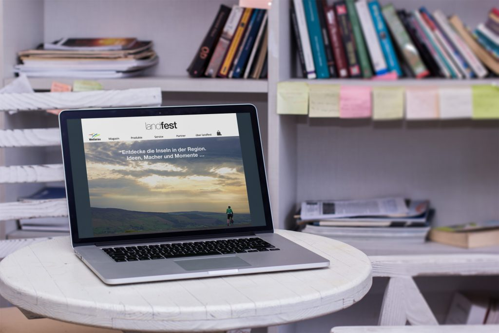 Content Marketing: Beispielwebsite landfest